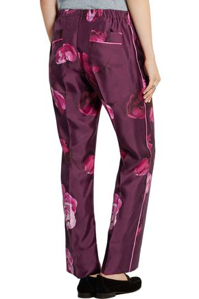 F.R.S. FOR RESTLESS SLEEPERS Floral-print silk-twill pants
