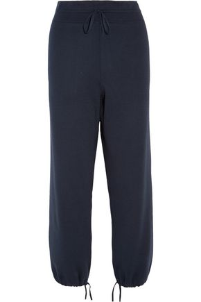 1205 Knitted cotton and silk-blend tapered pants