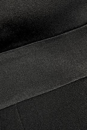 PALLAS Meteore satin-paneled crepe jumpsuit