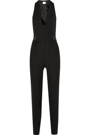 PALLAS Meteore satin-paneled crepe jumpsuit