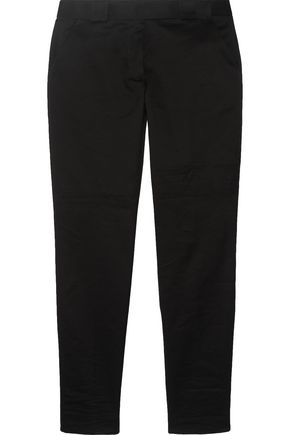 VICTORIA BECKHAM DENIM Cotton-twill tapered pants