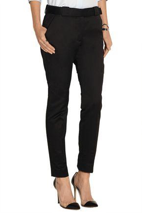 VICTORIA BECKHAM DENIM Cotton-twill tapered pants