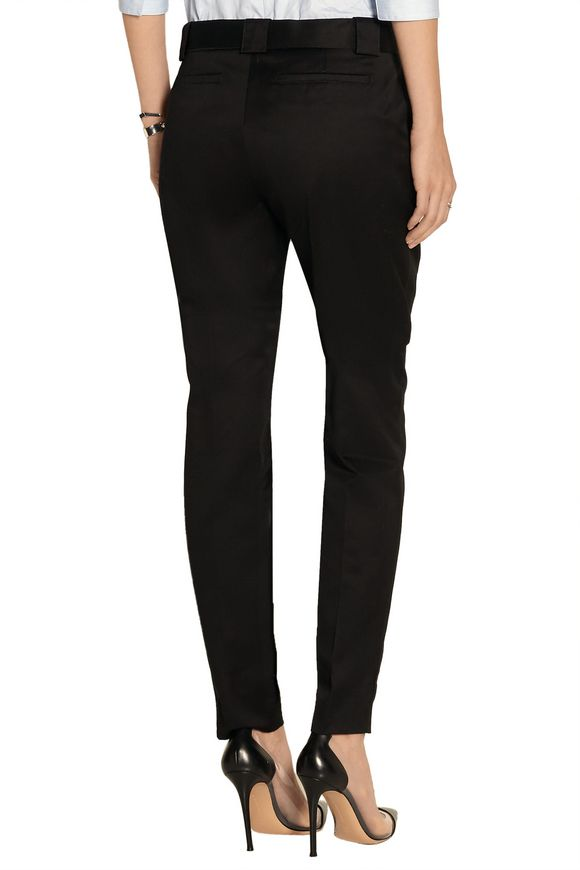 Cotton-twill tapered pants | VICTORIA BECKHAM DENIM | Sale up to 70% off |  THE OUTNET