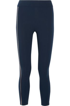NO KA 'OI Kela bead-embellished stretch-jersey leggings