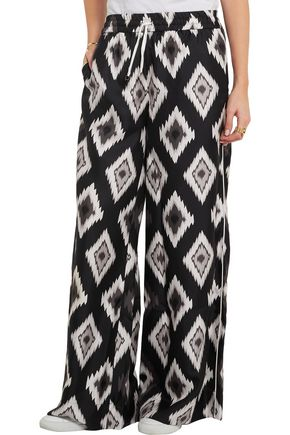 F.R.S. FOR RESTLESS SLEEPERS Printed silk wide-leg pants