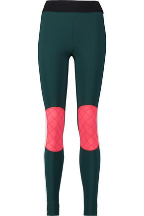 NO KA 'OI Kina paneled stretch-jersey leggings