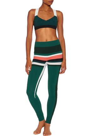 NO KA 'OI Kei paneled stretch-jersey leggings
