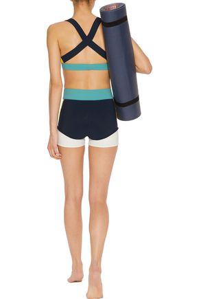 NO KA 'OI Haku color-block stretch-jersey shorts