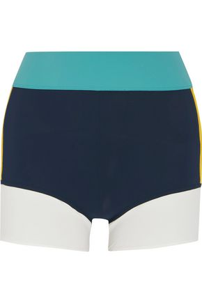 NO KA 'OI Haku color-block stretch-jersey shorts