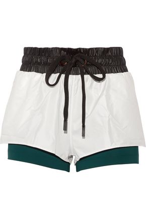 NO KA 'OI Hilo layered shell and stretch-jersey shorts