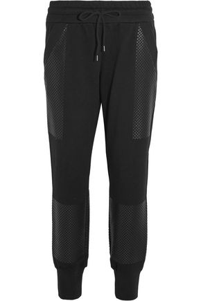 DKNY Printed cotton-jersey track pants