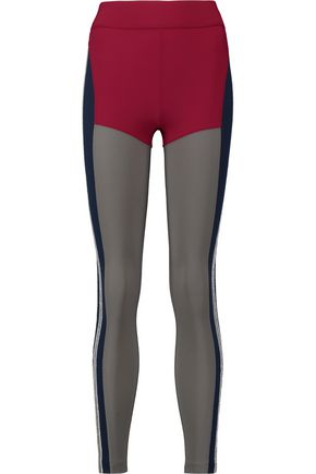 NO KA 'OI Kei paneled stretch leggings