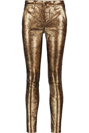 RTA Lucy metallic leather skinny pants