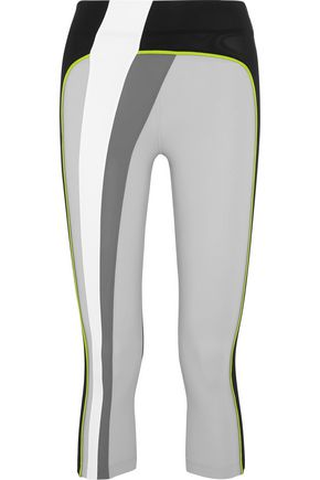 NO KA 'OI Kina cropped stretch-jersey leggings