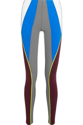 NO KA 'OI Kimi color-block stretch-jersey leggings