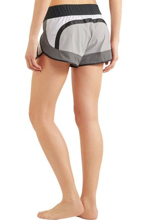 NO KA 'OI Pune color-block stretch-shell shorts