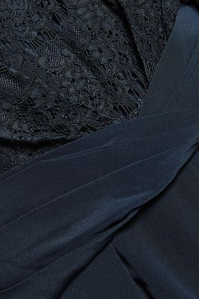ZIMMERMANN Lace-paneled silk crepe de chine jumpsuit