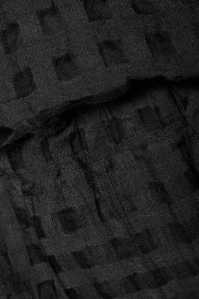 MAISON MARGIELA Checked wool and silk-blend fil coupé jumpsuit