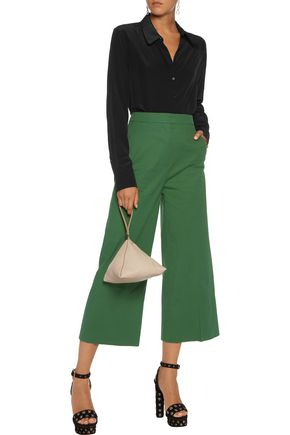 ROCHAS Cropped cotton wide-leg pants