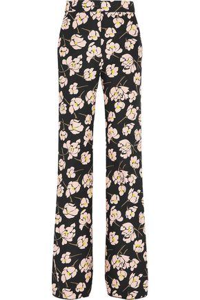 ROCHAS Floral-print cotton bootcut pants