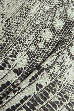 ROBERTO CAVALLI Snake-print faux leather skinny-leg pants