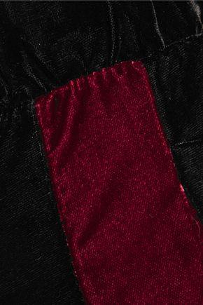 8 Paneled velvet wide-leg pants