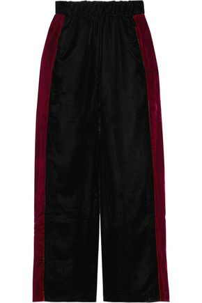 8 Paneled velvet wide-leg pants