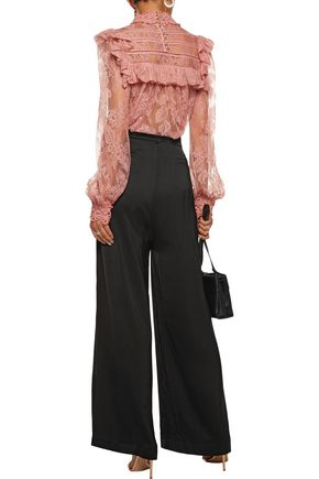 ZIMMERMANN Lavish satin wide-leg pants