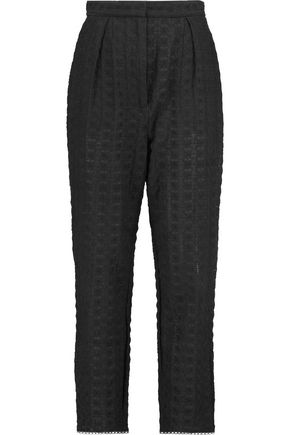 ZIMMERMANN Zephyr broderie anglaise cotton-blend tapered pants