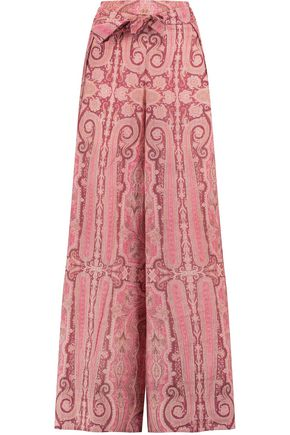 ZIMMERMANN Printed cotton-jersey pants