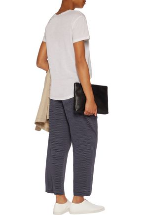VINCE. Printed silk-blend georgette pants
