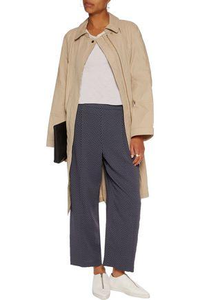 VINCE. Printed silk-blend georgette pants