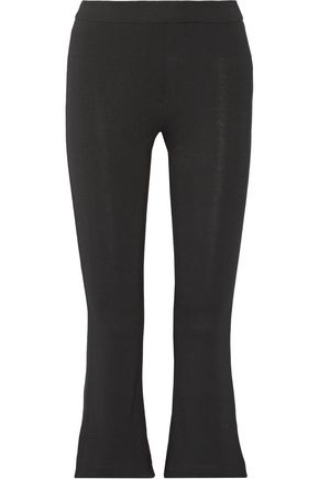 W118 by WALTER BAKER Joni cropped stretch-jersey bootcut pants