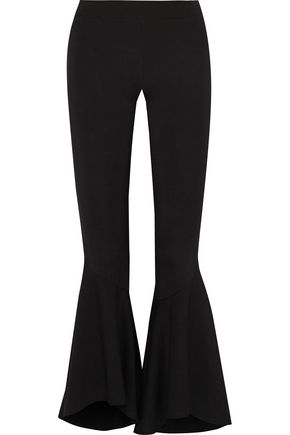 W118 by WALTER BAKER Cropped stretch-ponte flared pants