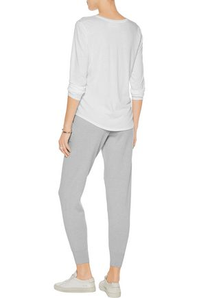 DUFFY Cotton and cashmere-blend skinny pants