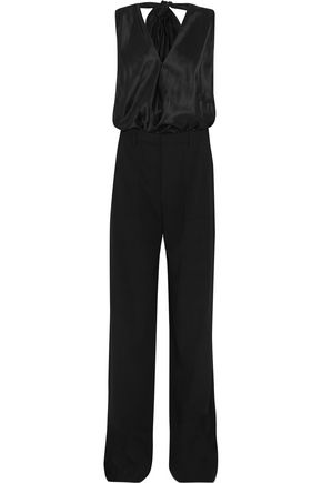 MAISON MARGIELA Tuta halterneck satin and faille jumpsuit
