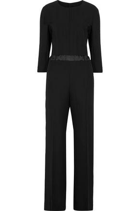 MAISON MARGIELA Satin-trimmed wool-crepe jumpsuit