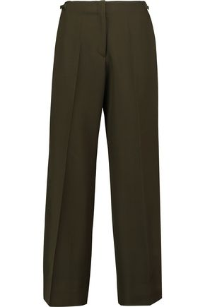 MAISON MARGIELA Cropped wool-twill wide-leg pants