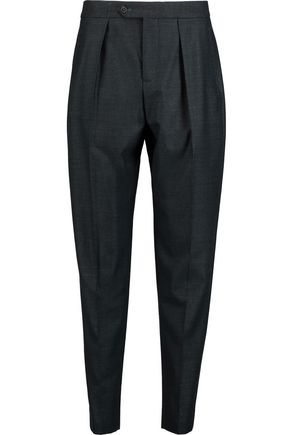 MAISON MARGIELA Pleated wool-blend slim-leg pants
