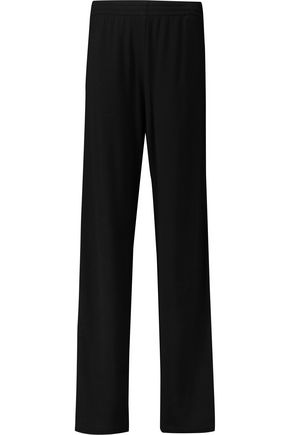 MAISON MARGIELA Snap-fastening stretch-jersey wide-leg pants