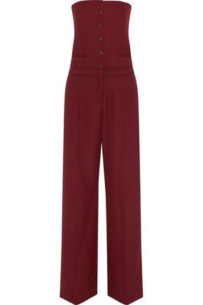 MAISON MARGIELA Strapless wool-crepe jumpsuit