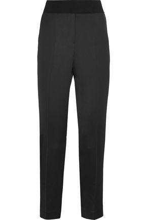 BY MALENE BIRGER Satin-crepe straight-leg pants