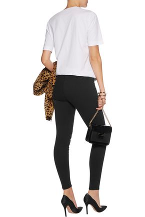 LOVE MOSCHINO Stretch-denim leggings