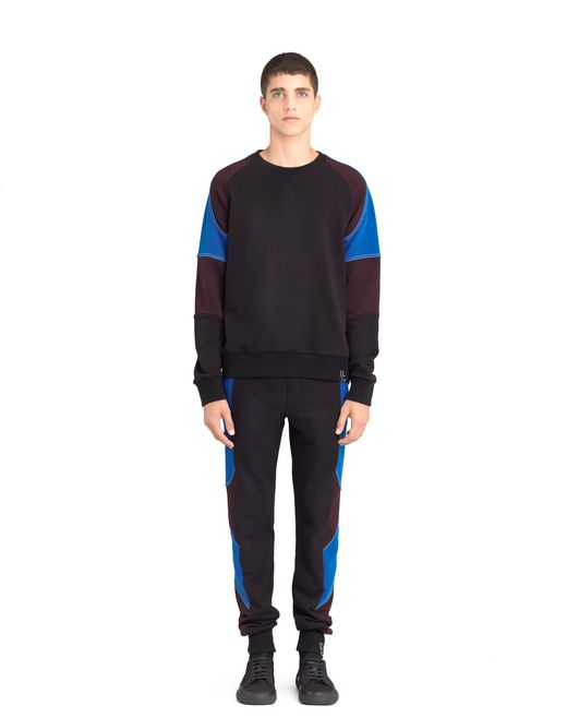 lanvin color-block jersey pants men