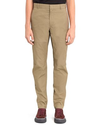 LANVIN Pants U LIGHT KHAKI BIKER PANTS F