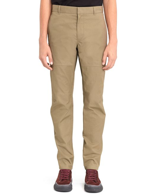 LIGHT KHAKI BIKER TROUSERS - Lanvin