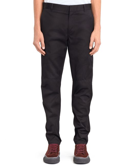 BLACK BIKER TROUSERS - Lanvin