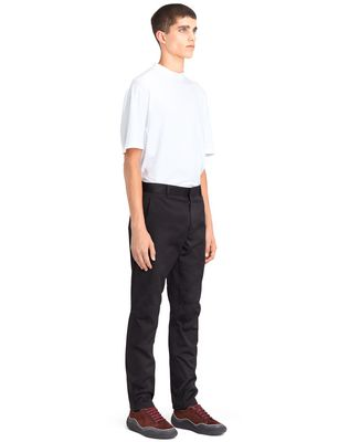 LANVIN BLACK BIKER PANTS Pants U e