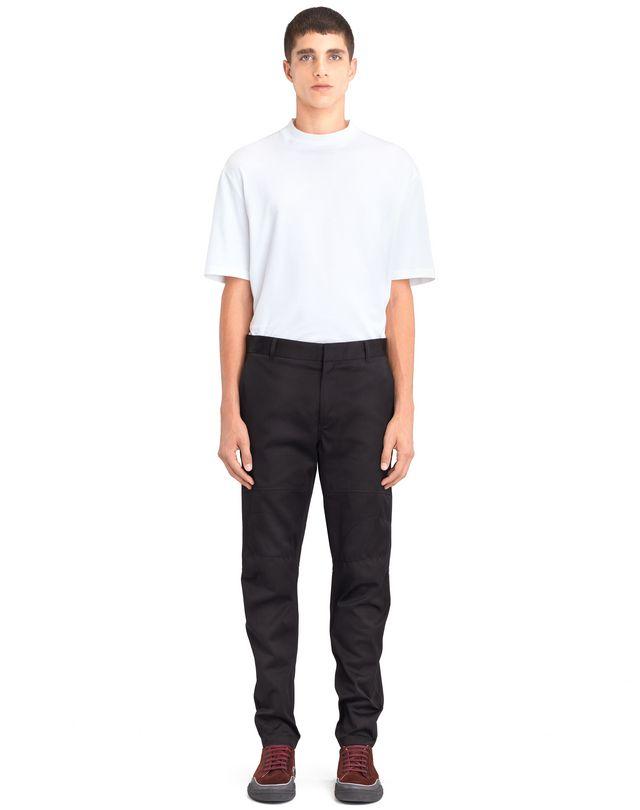 LANVIN BLACK BIKER PANTS Pants U r
