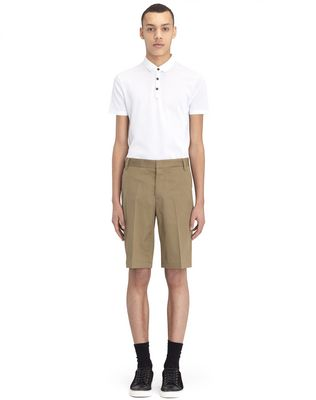 """BEIGE CHINO SHORTS WITH EMBROIDERED """"L"""""""